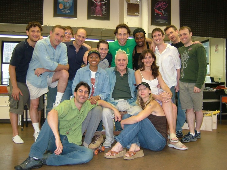 Full Company with John Kander after final rehearsal room run through
