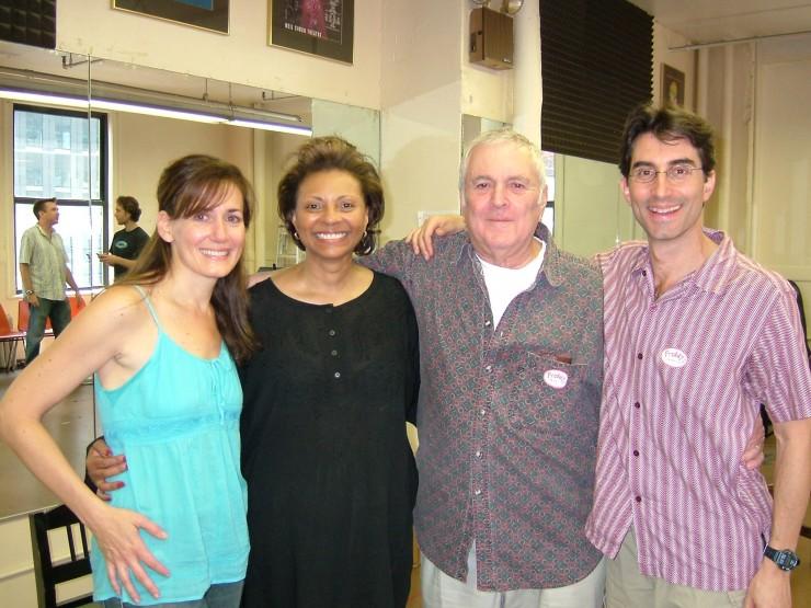 Janet Metz, Leslie Uggams, John Kander and Michael Unger