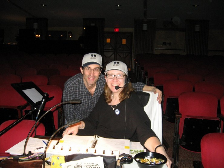 Director, Michael Unger and Production Stage Manager, Cherly Mintz