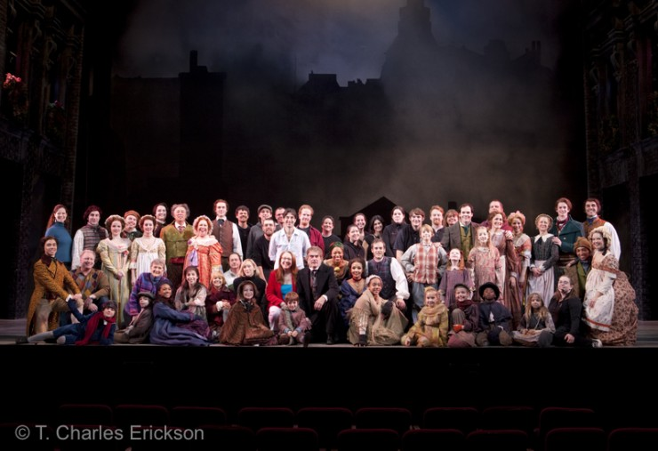 "The 2010 ""A Christmas Carol"" company."