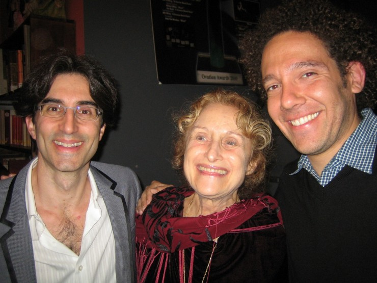 Director, Michael Unger, Playwright, Wendy Kesselman and Executive Producer and ASL Master, DJ Kurs