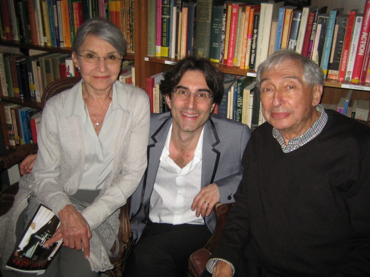 Director, Michael Unger - with his parents - at opening night party
