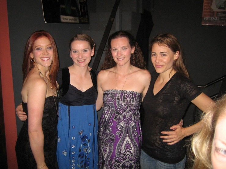 Darrin Revits, Lindsay Evans, Amber Zion and Deanne Bray at the opening night party