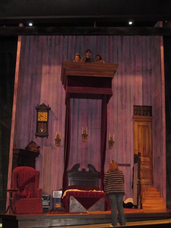 A favorite set piece - Scrooge's bedroom - designed by Ming Cho Lee.