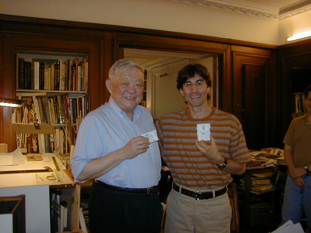2000 With Ming Cho Lee in his studio