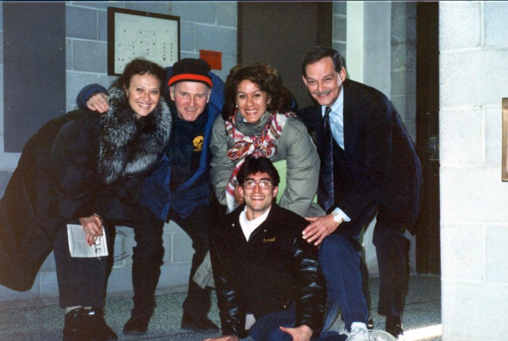 "1988 On the ""Broadway Bound"" tour - meeting Kiri Tekanawa"