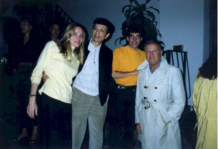 "1991 with Priscilla Barnes, James Hong and Dick Van Patten shooting ""Jokers Wild"" in the Bahamas"