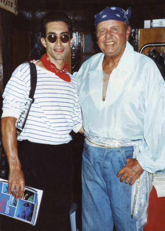 "1991 with Dick Van Patten shooting ""Jokers Wild"" in the Bahamas"