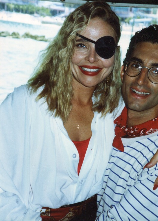 "1991 With Priscilla Barnes shooting ""Jokers Wild"" in the Bahamas"
