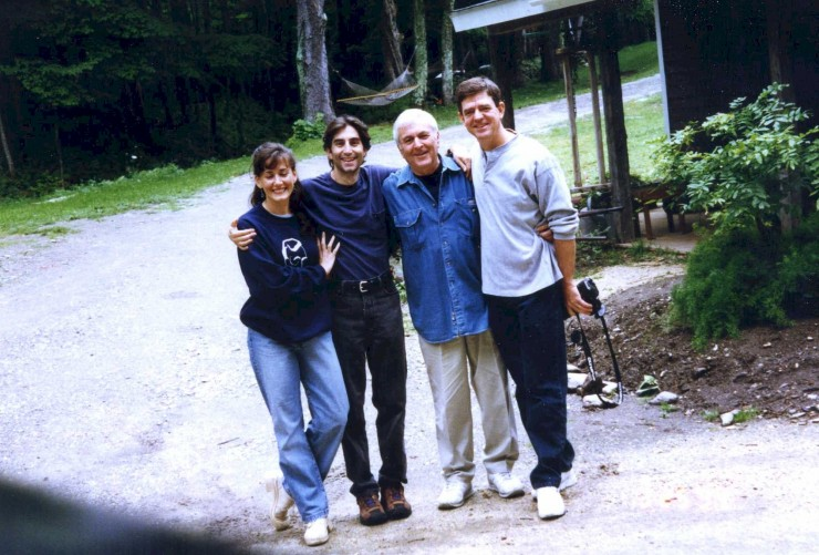 "1994 with Janet, John Kander and Albert Stephenson in the Berkshires when they came to see my prodcution of ""Changes of Heart"" at Barrington Stage Company"