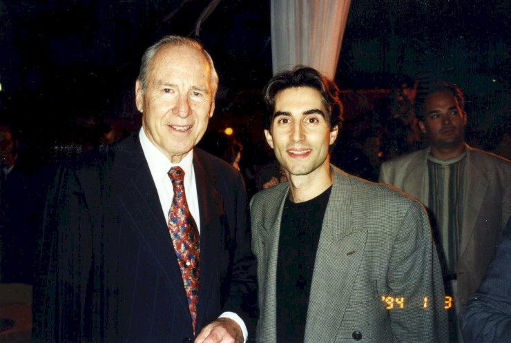 "1994 with Jim Lovell during ""Apollo 13"" publicity (I was assisting Gary Sinise)"
