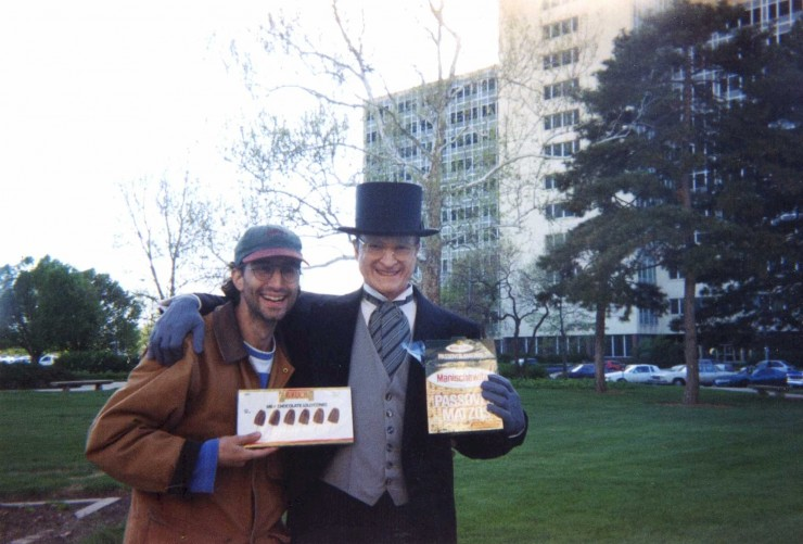 "1994 Passover with Gary Sinise as Harry Truman on the set of ""Truman"" for HBO"