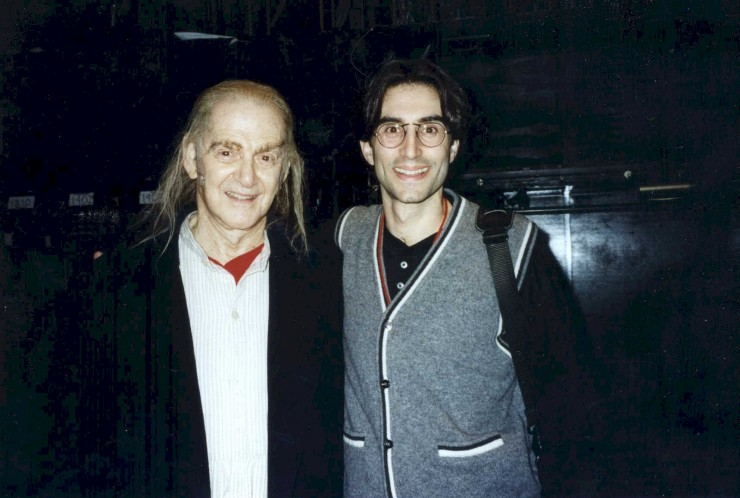 "1996 with Tony Randall - ""A Christmas Carol"" at Madison Square Garden"