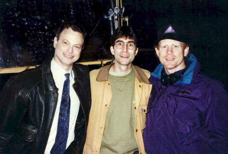 "1996 with Gary Sinise and Ron Howard on the set of ""Ransom"""