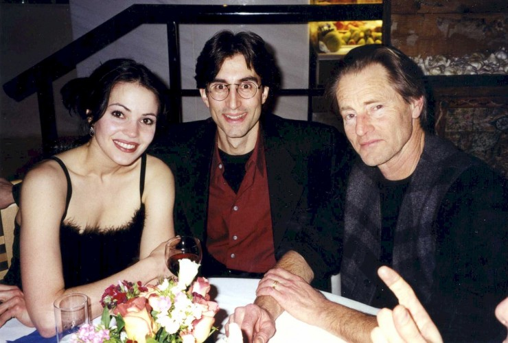 "1998 with Tanya Gingrich and Sam Shepard at the opening of ""Eyes for Consuela"" at Manhattan Theatre Club (which I assistant directed for Terry Kinney)"