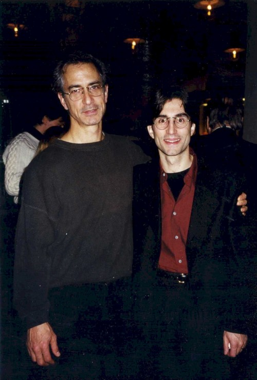 "1998 with David Strathairn - opening night of ""Eyes for Consuela"" at Manhattan Theatre Club"