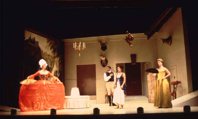 Jennifer Bauer (Lisette), Steve Memran (The Prince), Ali Marsh (Silvia), Judith Hawking (Flaminia)