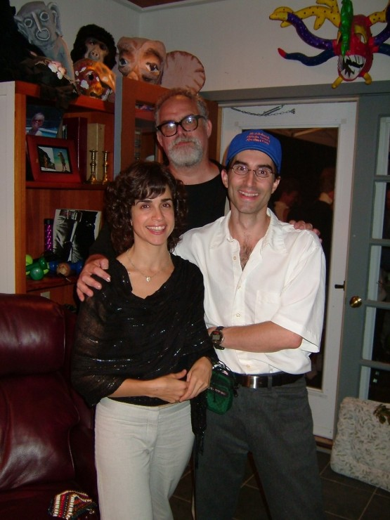 Rebecca Feldman, William Finn, Michael Unger at Opening Night Party