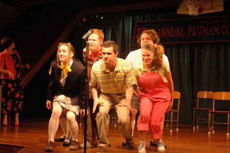 Sarah Salzberg (Logan), Jesse Tyler Ferguson (Leaf), Rob Sap (Tripp), Dan Fogler (Barfee), Celia Keenan-Bolger (Olive)