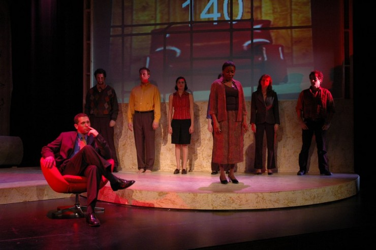 "Bryan Crossan (David), Darlene Horn (Wife) and company in ""140"" by Marsha Norman"
