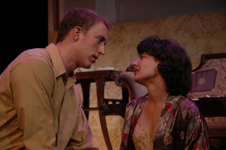 "John Long (Herman) and Miriam Habib (Rengin) in ""Bitter Sauce"" by Eric Bogosian"