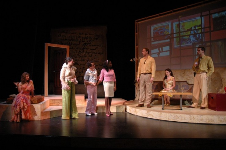 Natasha Staley (Spencer), Nora Sweeney (Holden), Ross Boehringer (Harry), Darlene Horne (Laura), John Long (Gerry), Lesslie Dodge Crane (Rina), Bryan Crossan (Joe)