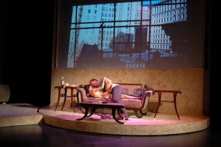 """Miriam Habib (Rengin), John Long (Herman) in """"Bitter Sauce"""" by Eric Bogosian"""