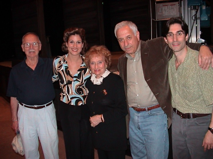 Jerome Coopersmith (Book Writer), Stephanie Block (Ruth), The Real Ruth Gruber, William Goldstein (Composer), Michael Unger (Director)