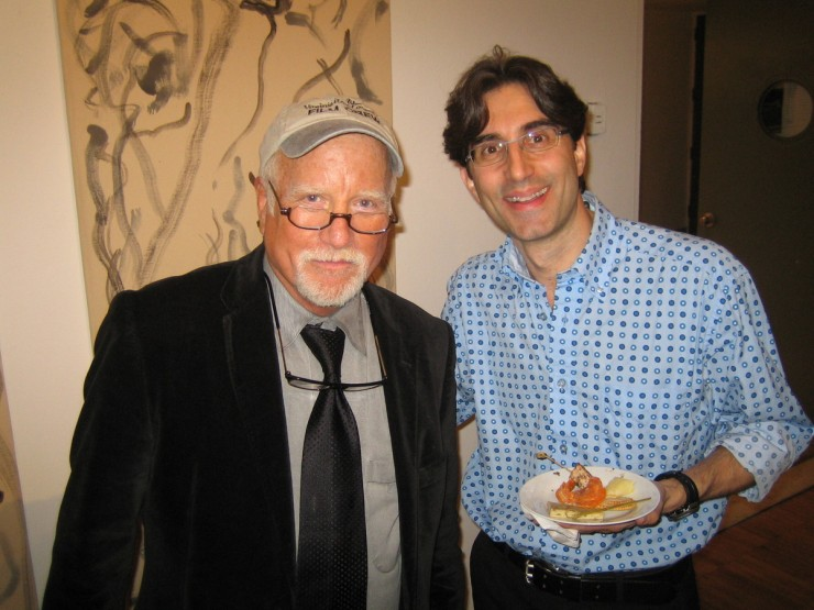 With Richard Dreyfuss after the Lincoln Evening