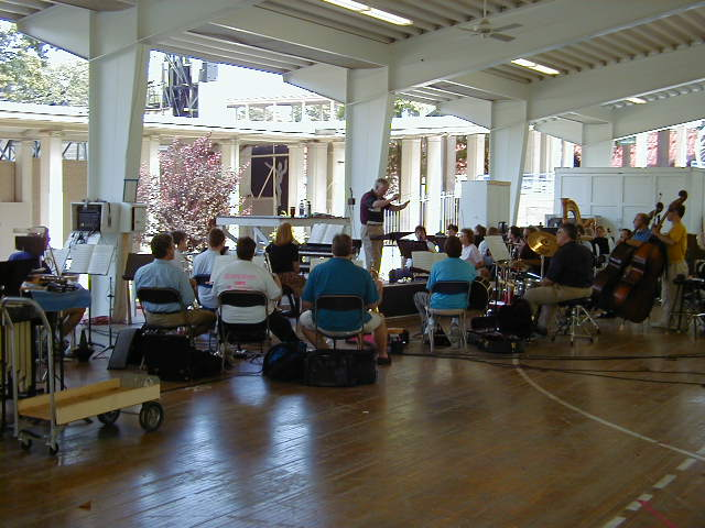 Musical Director, Thom Helm, conducting the orchestra
