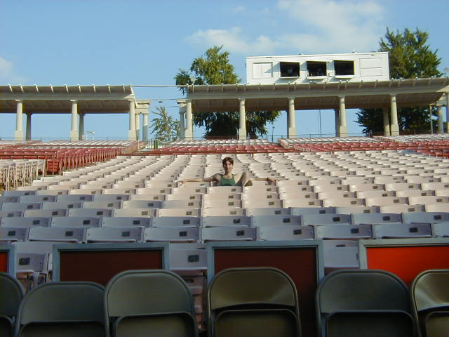 Director, Michael Unger, amid 12,000 Empty Seats