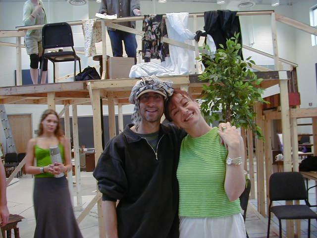 Sue Cella (Dotty) and me - Alison Nega (Brooke) in the background