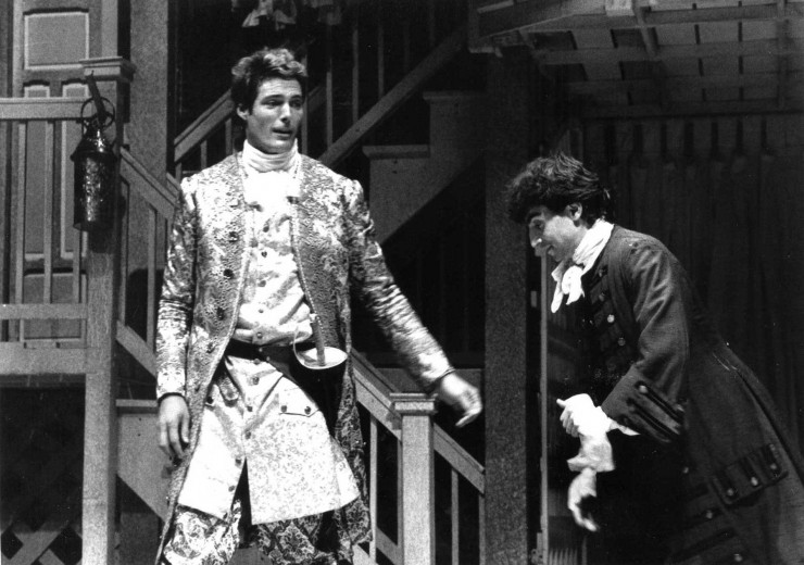 "1987 With Christopher Reeve in ""The Rover"" at Williamstown Theatre Festival"