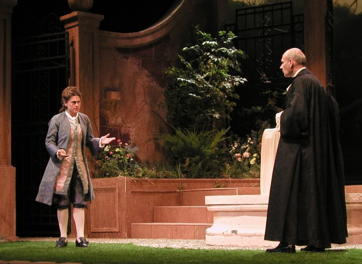 Leondie (Ali Marsh) and Hermocrate (Peter Kybart)