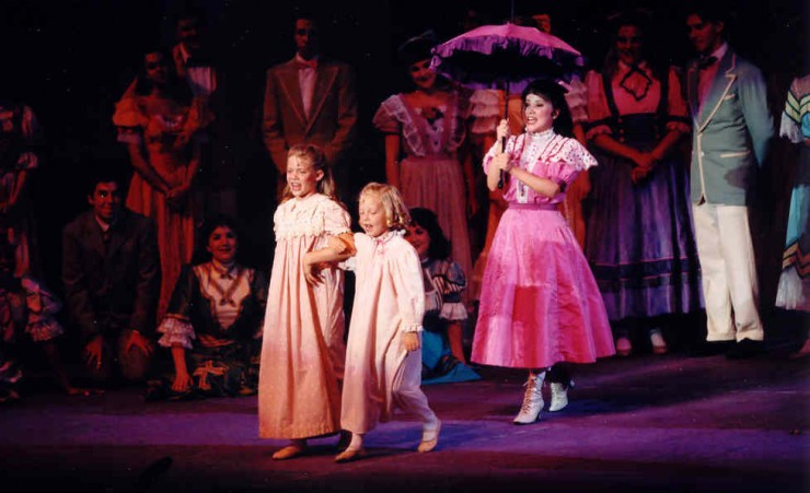 Erin Downling (Agnes), Natalie Ann Bram (Tootie) and Emily Loesser (Esther).