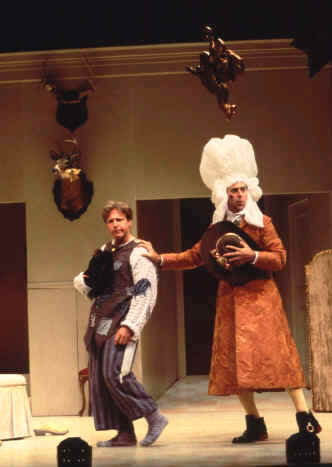 James Hallett (Harlequin), Michael Countryman (Trivelin)
