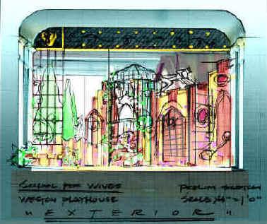 Set Designer, Howard Jones', glorious paint elevations.