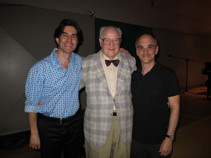 Myself, Composer Robert Ward and Maestro David Neely after SILL Lecture