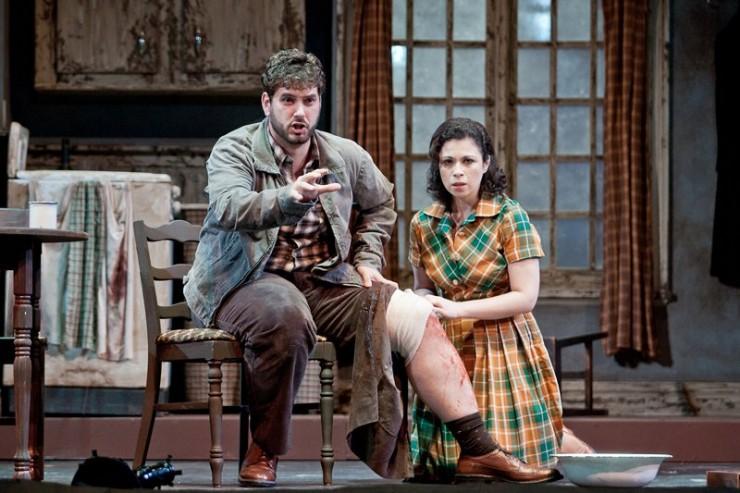 Nicholas Pallesen (John Sorel) and Lina Tetriana (Magda Sorel) in Act One - photo by Jeff Reeder