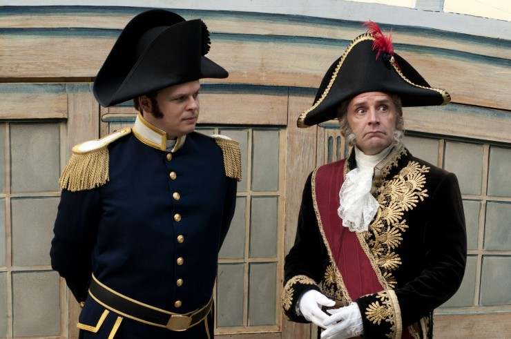 Sean Anderson (Captain Corcoran) and Malcolm Gets (Sir Joseph Porter)