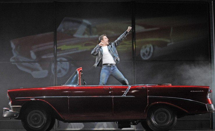 Kenickie (Adrian Aguilar) in Greased Lightning