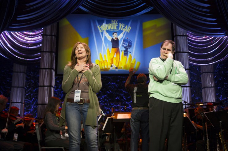 Janet Metz and Richard Kind rehearsing song from My Favorite Year