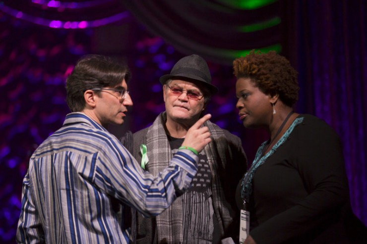 With Micky Dolenz and Capathia Jenkins rehearsing You Can't Stop The Beat from Hairspray